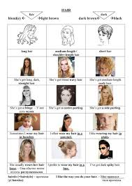 hair style esl describing people hair and hairdos worksheet free esl printable