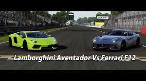 berlinetta vs lamborghini aventador need for speed rivals battle 2 f12 vs lamborghini