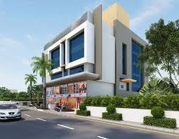 exterior view tripoly studio architectural 3d rendering company india