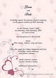 Wedding Invitation Card Fascinating Sample Of Wedding Invitation Cards 69 In Thread