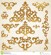 Victorian Design Style by Vector Set Of Scrolls And Vignettes In Victorian Style Stock