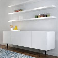 Wall Shelf Ikea by Clean Wall Decoration With White Color Floating Shelf Design