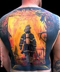 maltese cross firefighter tattoo real photo pictures images and