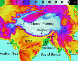 Tibetan Plateau Map Bengal Tornadoes Background Info