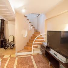 room stairs and living room tv 53165 indoor home still life