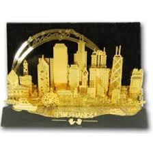skydeck chicago skyline gold plated ornament store