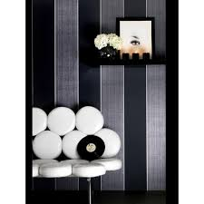 Black And White Striped Wallpaper by Graham U0026 Brown Black And White Monochrome Stripe Removable