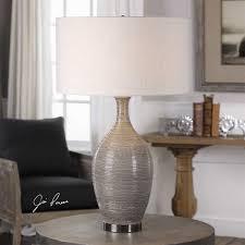 Uttermost Vases Uttermost 27518 Dinah 1 Light Table Lamp In Gray Textured