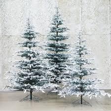 snowy faux noble fir terrain