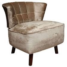 Velvet Accent Chair Century Modern Glamorous Accent Chair In Velvet At 1stdibs