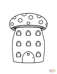 mushroom house coloring page free printable coloring pages
