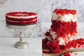 curly kitchen red velvet strawberry cheesecake