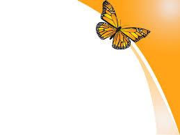 Orange Butterfly Design Powerpoint Templates Orange Butterfly Ppt Slide Designs