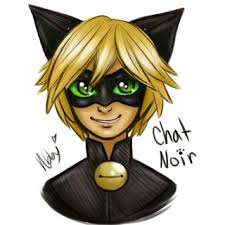 colored sketch i did of chat noir from the show the miraculous