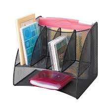 Leather Desk Organizer by Onyx Mesh Desk Corner Organizer Safco Products