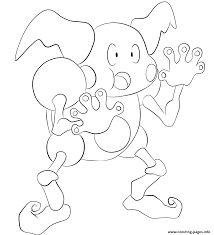 122 mr mime pokemon coloring pages printable