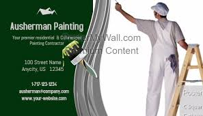 Business Cards Painting Painting Contractor Business Card Template Postermywall