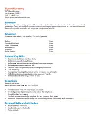 Resume Examples For Hospitality by 12 Free High Student Resume Examples For Teens