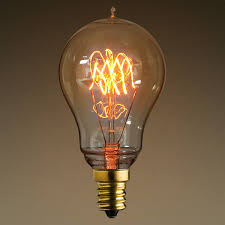 25w antique edison light bulb 3 loop tungsten filament