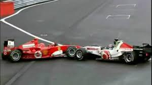 sato and schumacher crash in belgium 2005 video dailymotion