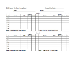 Ten Pin Bowling Sheet Template Sle Bowling Sheet 8 Documents In Pdf Psd Word Excel