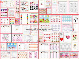 valentine printables pack with more than 70 valentine activities