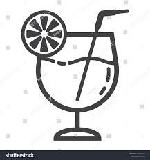 mixed drink clipart black and white cocktail line icon food drink alcohol stock vector 692804875