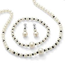 sapphire pearl necklace images 2 25 tcw genuine sapphire and cultured freshwater pearl necklace