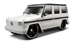 cube cars white remote control mercedes g 55 class electric rc car