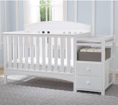 White Convertible Crib With Changing Table by New Delta Crib With Changing Table U2014 Thebangups Table Delta Crib