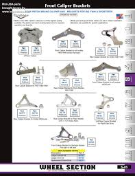 discount mid usa harley brake calipers and mounts