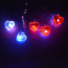 wholesale classic led light up necklace pendants charms