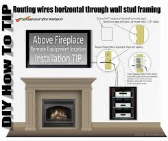 powerbridge installation above fireplace of on wall mounted lcd plasma led hdtv home hacks wall mount hiding wires and walls