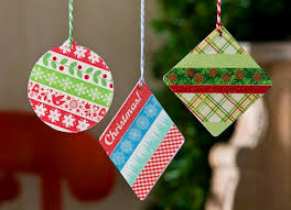 washi ornaments using acrylic shapes washi crafts