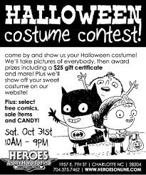Halloween Costumes Charlotte Nc Heroesonline Blog Reminder Halloween Costume Contest Tomorrow