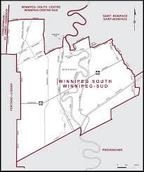 winnipeg map winnipeg south maps corner elections canada
