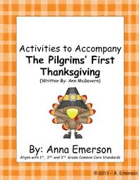 the pilgrims thanksgiving language writing for 1st 2nd