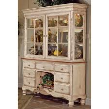 Kitchen Hutches Buffets White by Kitchen Buffet Hutch With Optional Hutch In Antique White And