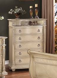 Antique Bedroom Furniture With Marble Top Homelegance Palace Ii Upholstered Bedroom Set Antique White