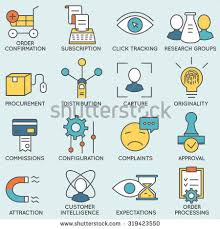 simple set marketing related color vector stock vector 464896244