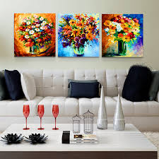 online shop 3pcs abstract color flower pot decoration painting on