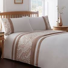 Debenhams Bed Sets Home Collection White And Brown Leaf Print Bedding Set Debenhams