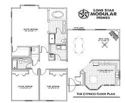 the cypress ranch style modular home floor plan