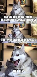 What Is Meme In French - bad pun dog meme imgflip