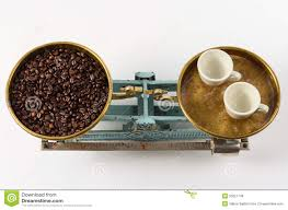 coffee in balance stock photo image 50221748