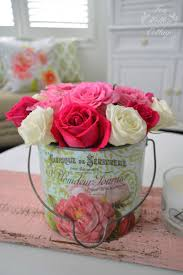 shabby cottage home decor everything u0027s coming up roses metal buckets home decor and summer