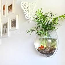 Betta Fish Decorations Creative Wall Mounted Hanging Bowl Aquarium Fish Tank Plant Home