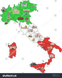 Turin Italy Map by Map Italy Divided By Regions Most Stock Vector 76083232 Shutterstock