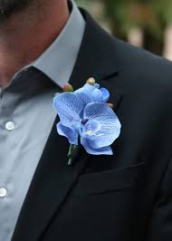 blue boutonniere blue orchid wedding boutonniere new bouts corsages at afloral