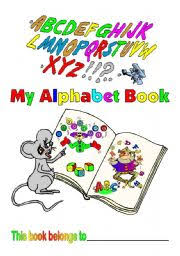 learning letters alphabet book covers front and inside and 2